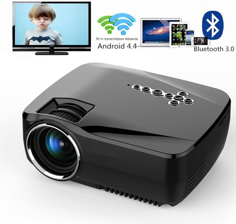 GAOHAILONG Proyector LED Android 4.4 Tv caja de TV Full HD DLAN WIFI BT 3.0 Apoyo Miracast Airplay EZCast Multilanguage Beamer: Amazon.es: Deportes y aire libre
