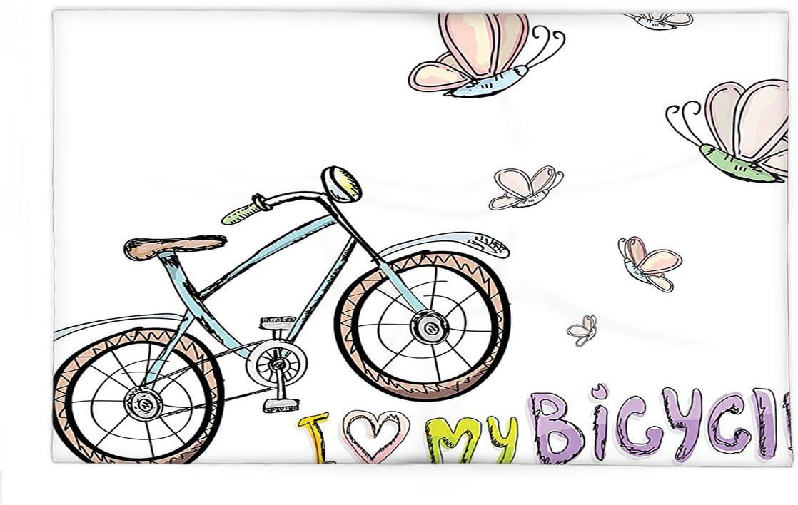 interestlee manta de forro polar bicicleta decoración niños amor ...