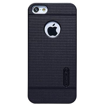 Nillkin Frosted Shield - Carcasa trasera protectora y antideslizante + film de pantalla para iPhone 5s/SE - Negro