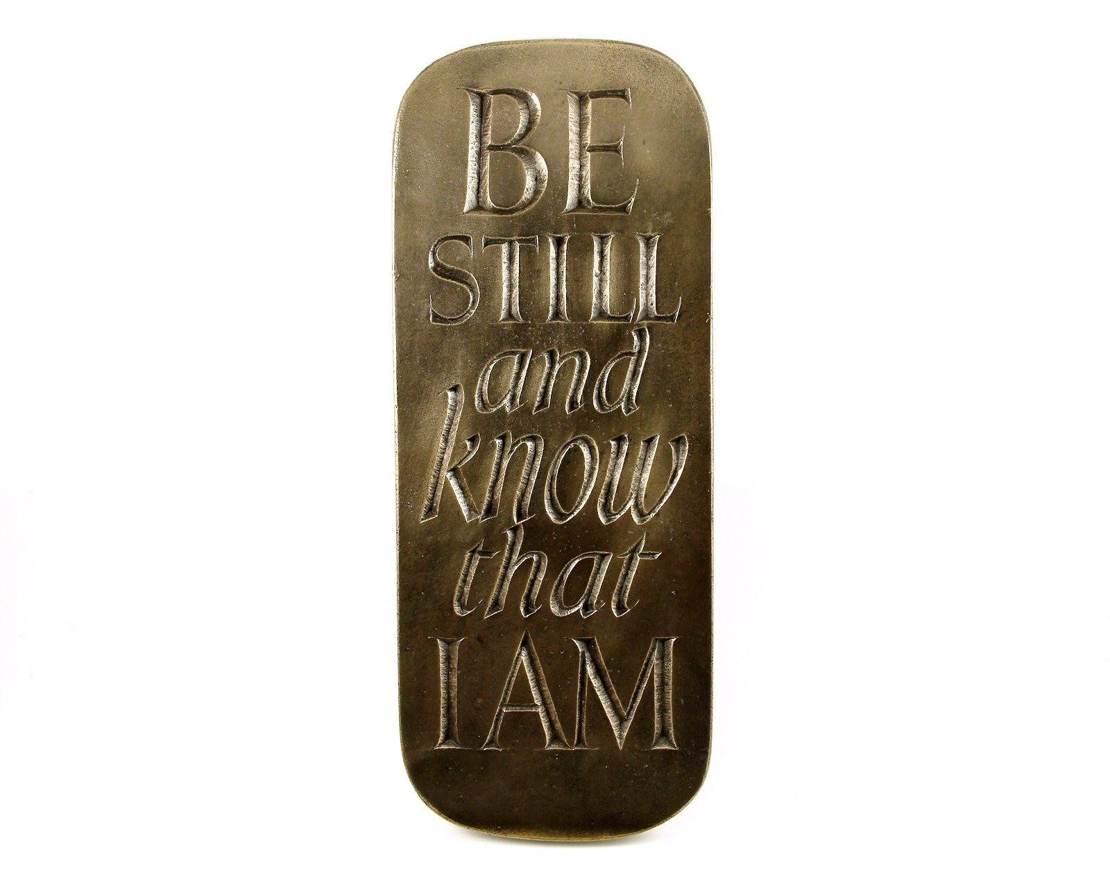 Be Still And Know That I Am Plaque Wild Goose From Ireland by Wild Goose