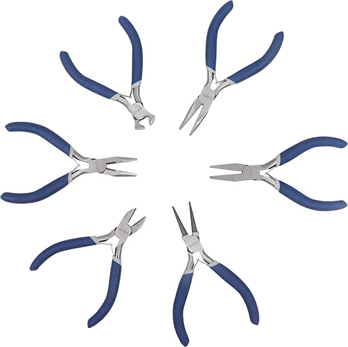 Wire wrap pliers round nose spring action jeweler crafts wire work pro tool