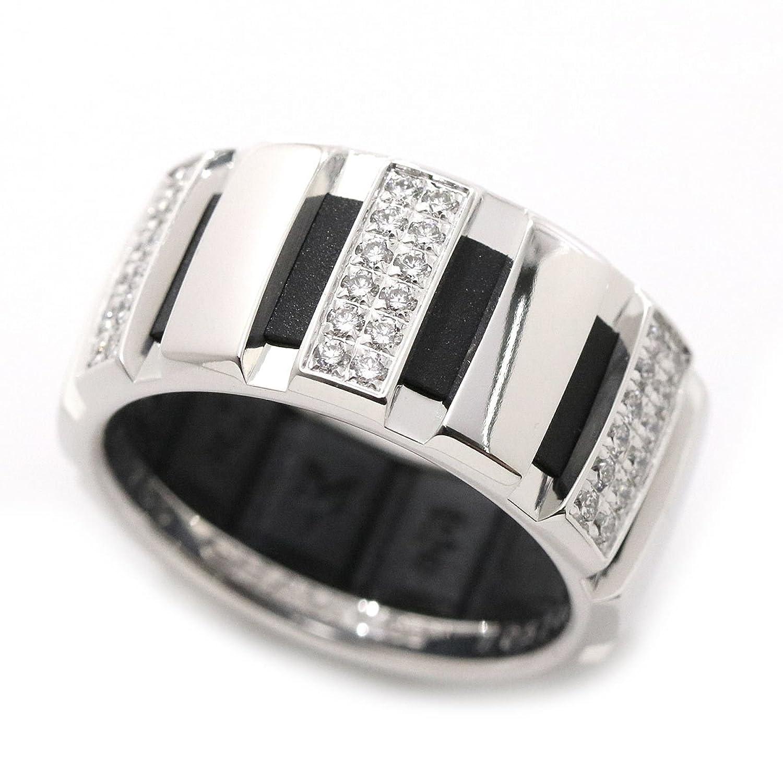 ショーメ CHAUMET クラスワン ハーフ ダイヤ リング #53 K18WG 18金ホワイトゴールド 750 ラバー 指輪 90045277 B07CSVFMN1