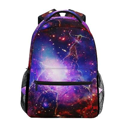 ZZKKO Cosmic Cosmos Space Galaxy Nebula Mochilas Colegio Libro Bolsa de viaje Senderismo Camping Daypack