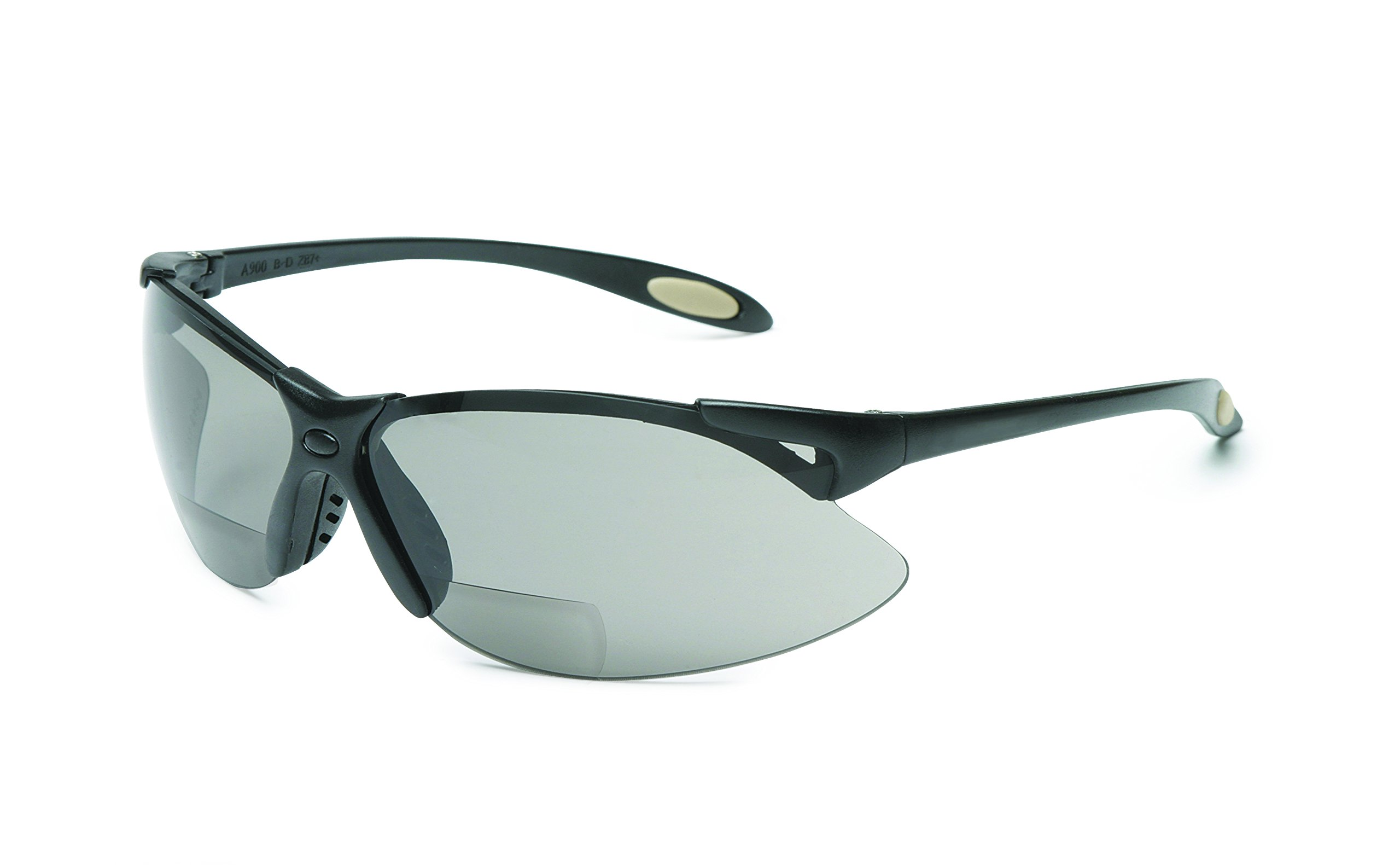 UVEX by Honeywell A960 Reader/Magnifier Series Black Frame, 1.5 Diopter TSR Gray Lens with Anti-Scratch Hardcoat