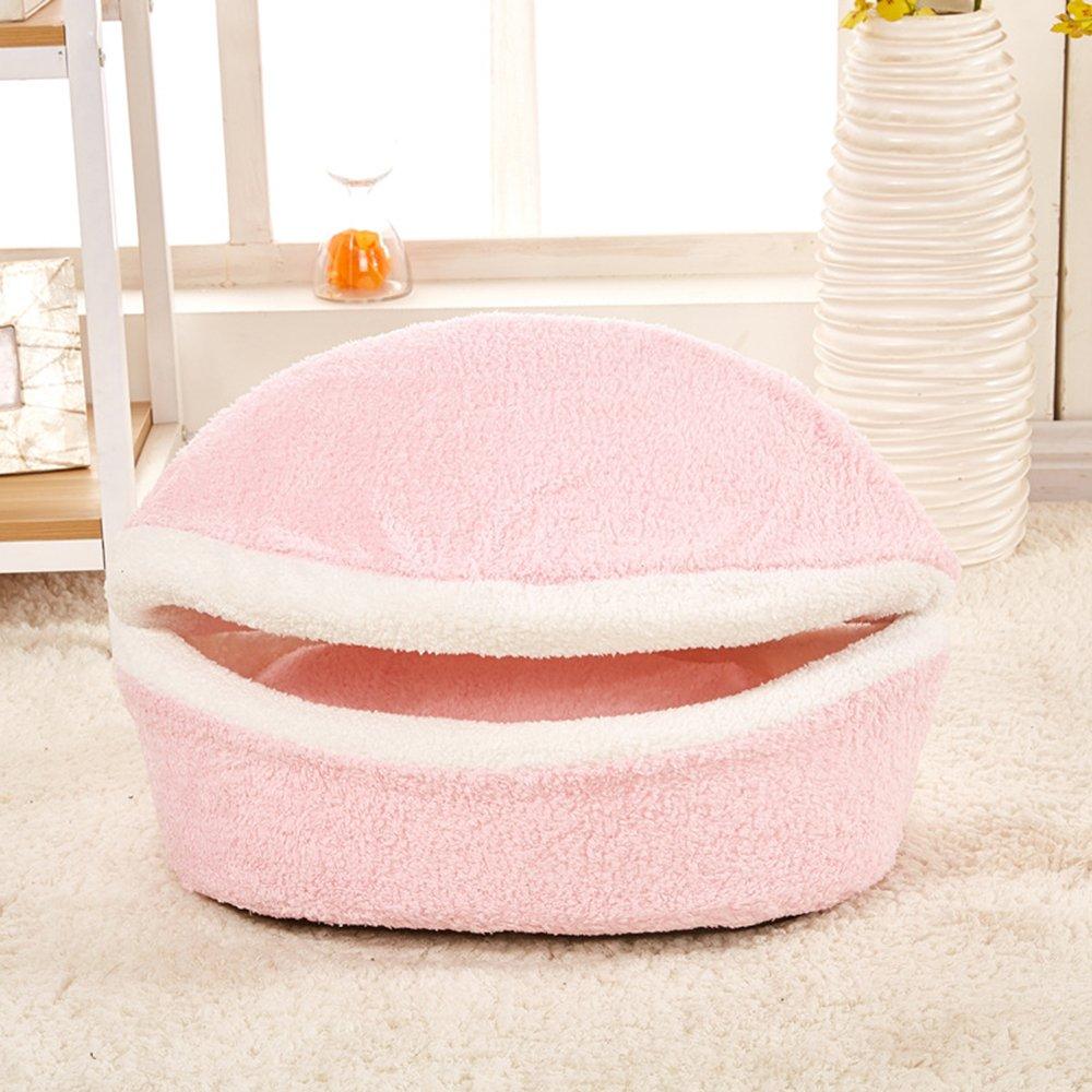 Ltuotu - Cuccia sfoderabile per animali domestici, lavabile in lavatrice, per tutte le stagioni, 3 colori e 2 taglie, Polipropilene, Rose, M(45 x 35 cm) 3colori e 2taglie