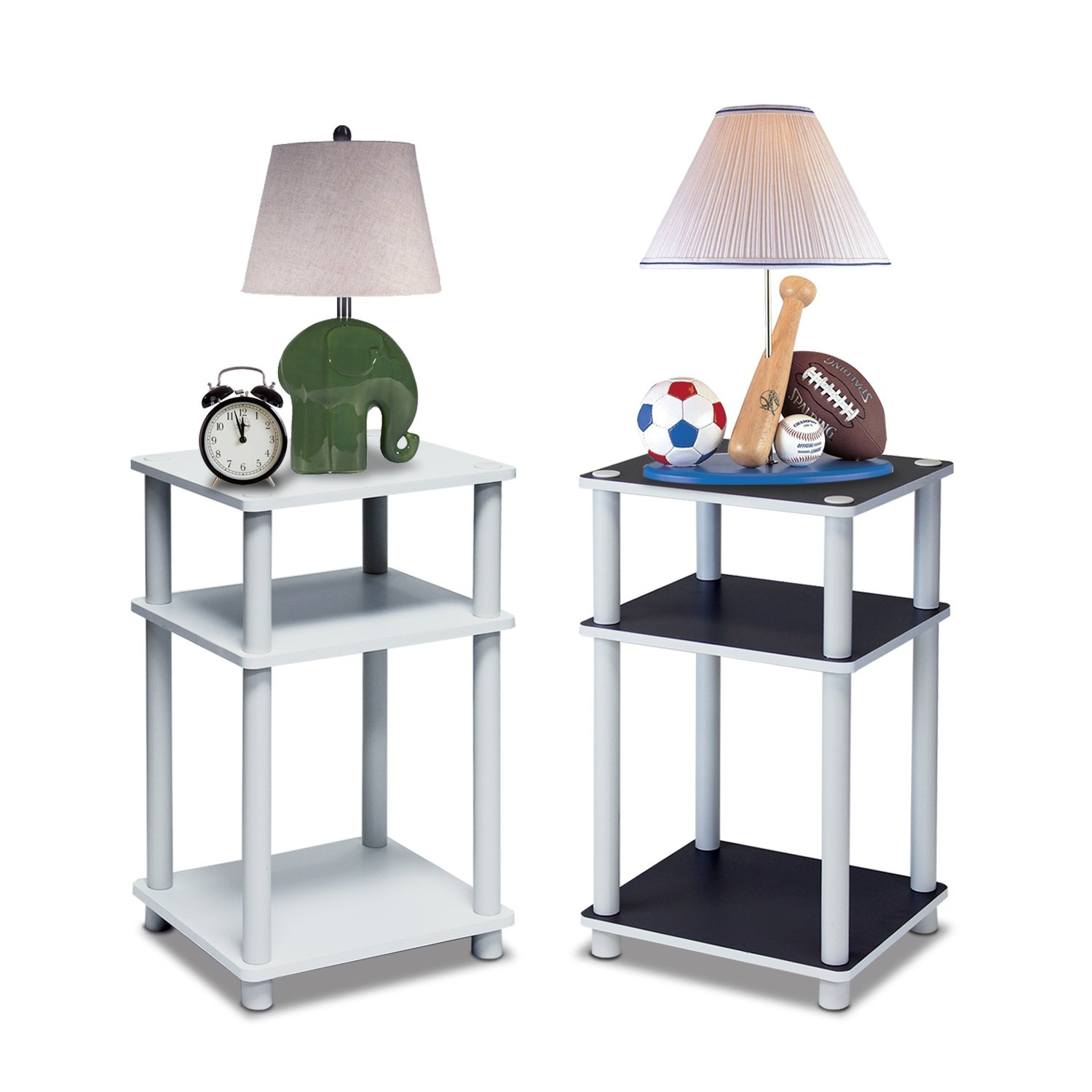 End Table Night Stand 3 Tier Tables Furniture Espresso