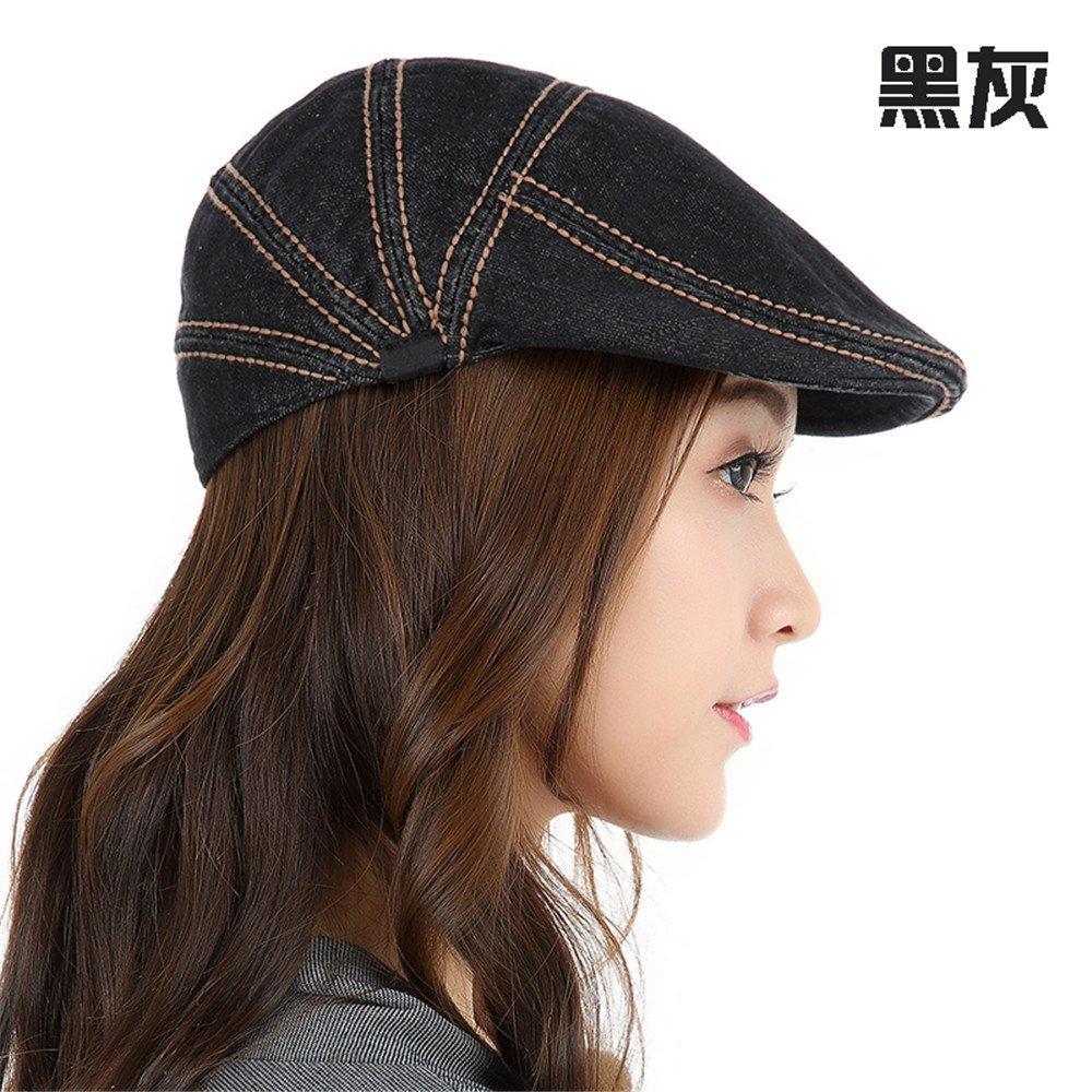 La mujer en el otoño y el invierno verano otoño neutro-match todos los niños gorra de casual de hombres coreanos cowboy hat,M (56-58cm) Reglamento de Sweat Band,negras cenizas