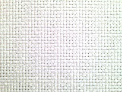 KCS 12 x 59 18CT Counted Cotton Aida Cloth Cross Stitch Fabric Cream