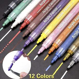 vari colori brillanti pennarelli per adulti manga aphic drawing 12 colori per creare foto e album di foto fai-da-te Pennarelli metallici MeFe