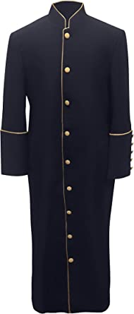 New Tony Blake Church Clergy Pastor Robe Cassock with Matching Stole Bible Chest