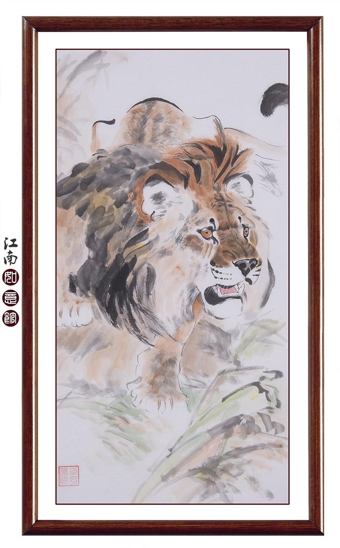 Amazon.de: jiangnanruyi Art Löwe Animal oridental Original ...