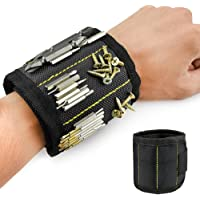Welltop Magnetic Wristband, Magnetic Arm Band, Screw Holder, Magnetic Wrist Tool Holder with Strong Magnets, Adjustable Strap, for Screws, Nails, Bolts, Drill Bits and Small Metal Tools