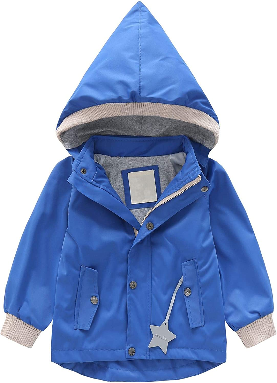 Echinodon M/ädchen Regenjacke mit Fleecef/ütterung warm wasserdicht Winddicht atmungsaktiv Kinder Jacke mit Kapauze /Übergangsjacke Funktionsjacke