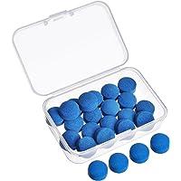 Gejoy - Puntas para tacos de billar, con caja de almacenamiento, 20 unidades, 13 mm, azul