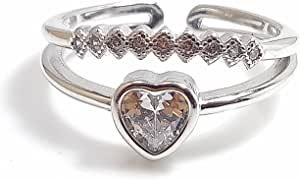 Italian silver ring. Stamped 925. Free size