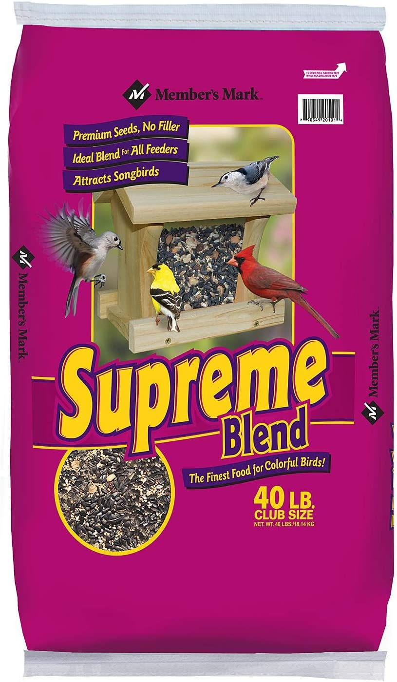 Member's Mark Supreme Blend Wild Bird Food 40 lbs