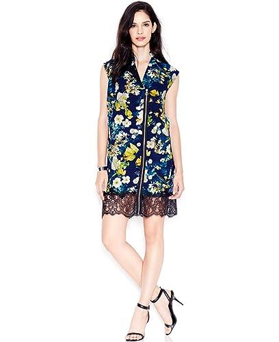 Rachel Rachel Roy Womens Lace Trim Asymmetrical Party Dress