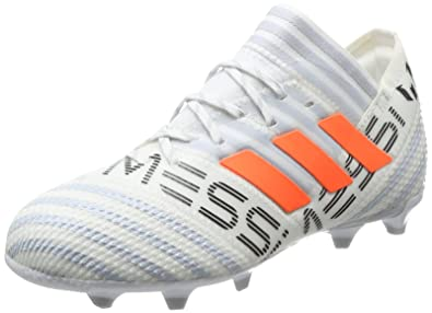adidas Nemeziz Messi 17.1 FG J, Zapatillas de Fútbol para Niñas, (FTWR White/Solar Orange/Clear Grey), 35.5 EU: Amazon.es: Zapatos y complementos