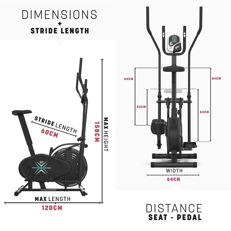 We R Sports 2-in-1 - Bicicletas estáticas (cross trainer, tensiómetro, compacto) , color negro: Amazon.es: Deportes y aire libre