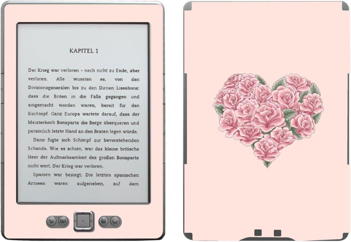Disagu SF de 103567 _ 883 Diseño Protector de Pantalla para Amazon Kindle 4 eReader Diseño de Rosa Corazón Valentine Transparente: Amazon.es: Informática