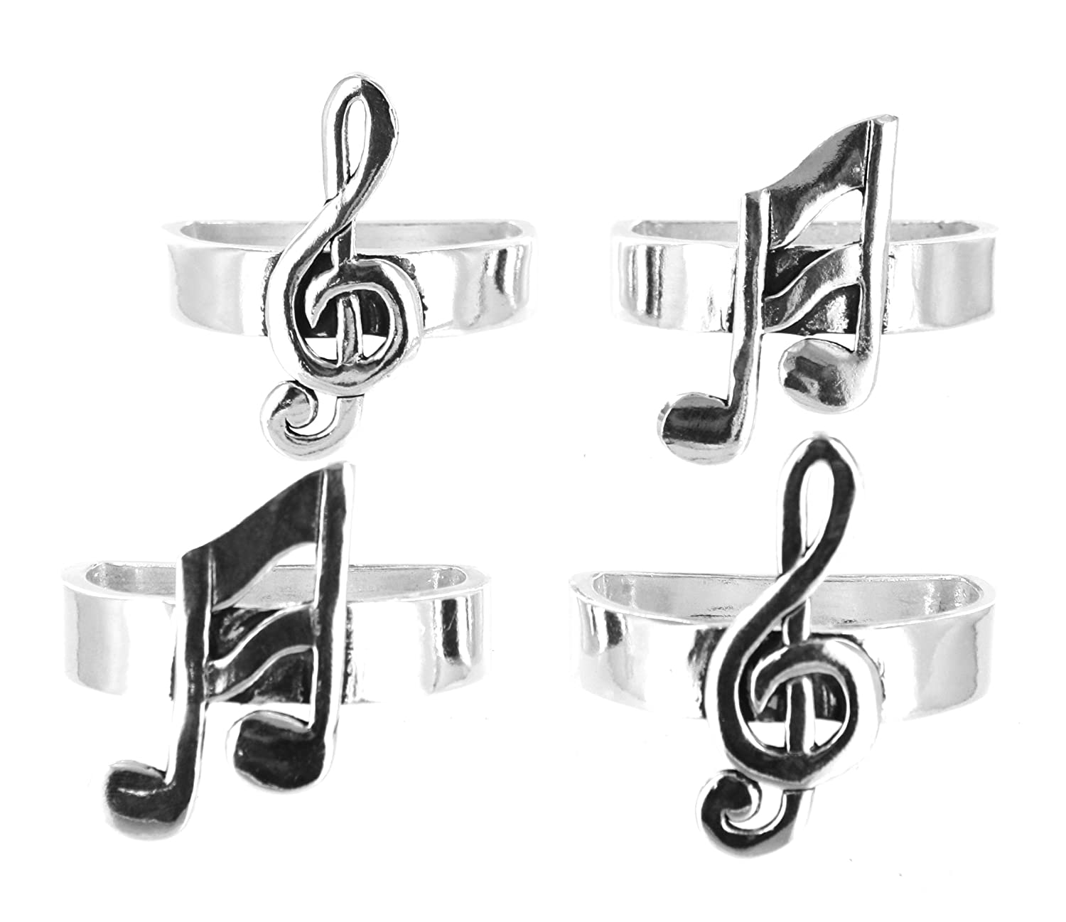 music ring silver clef rings sterling treble pin