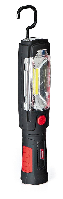 Tayg Wiederaufladbare LED-Leuchte mit Taschenlampe, Rot und Schwarz 502606