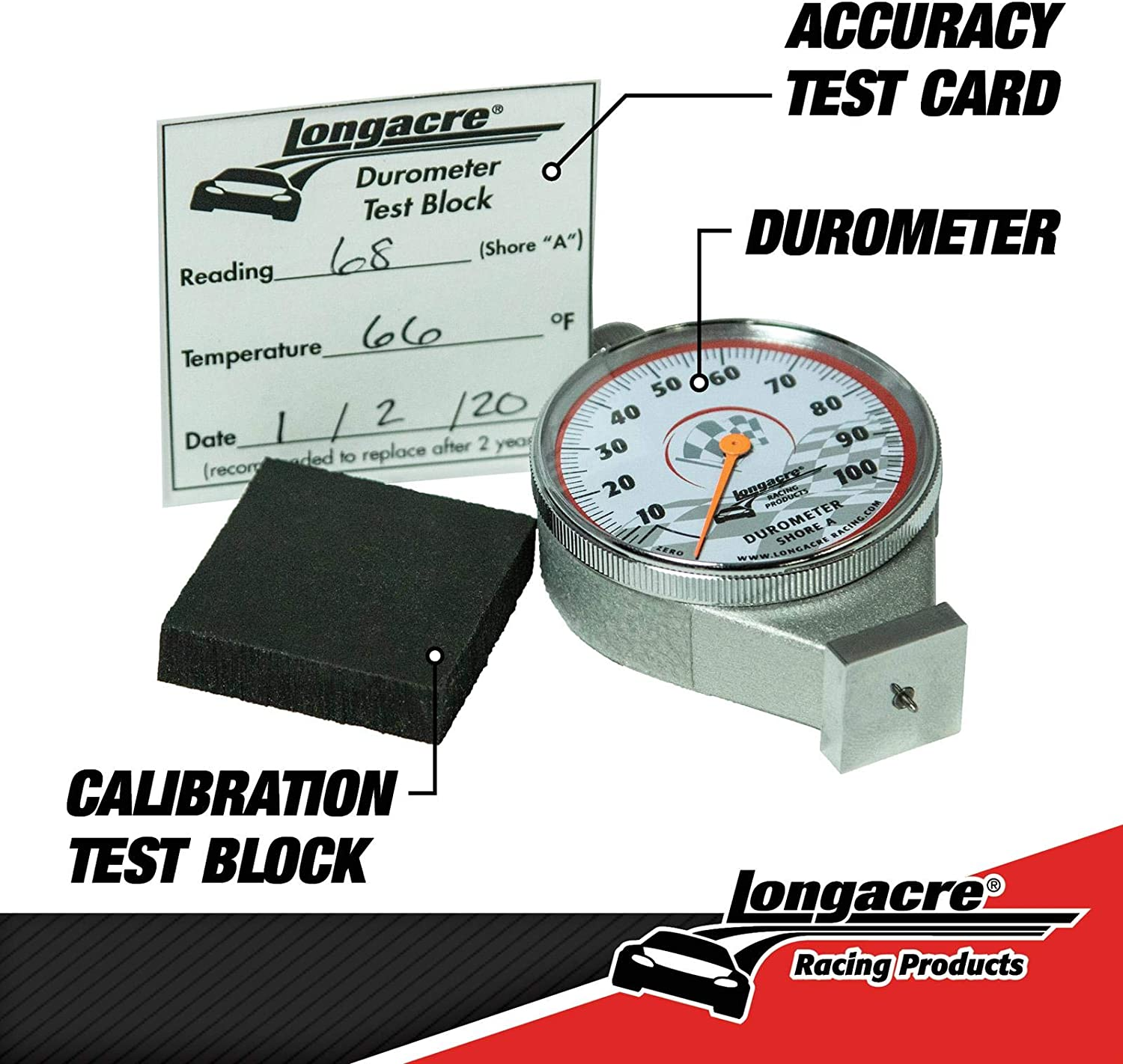 Longacre 52-50546 Deluxe Tire Durometer with Storage Case