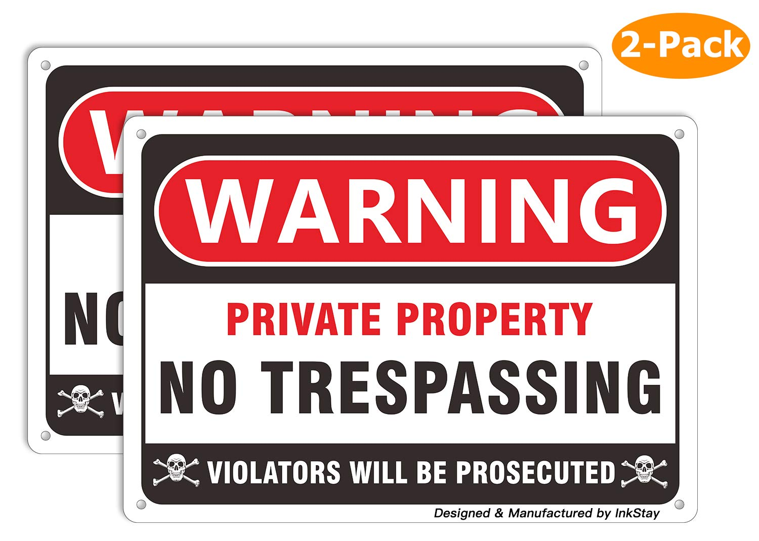 picture relating to Printable No Trespassing Sign identified as No Tresping Signs and symptoms Personal Residence, Retain Out Caution Steel Garden Indicators, Aluminum Indicator for Back garden Out of doors Indoor Gates, Extensive Everlasting Temperature