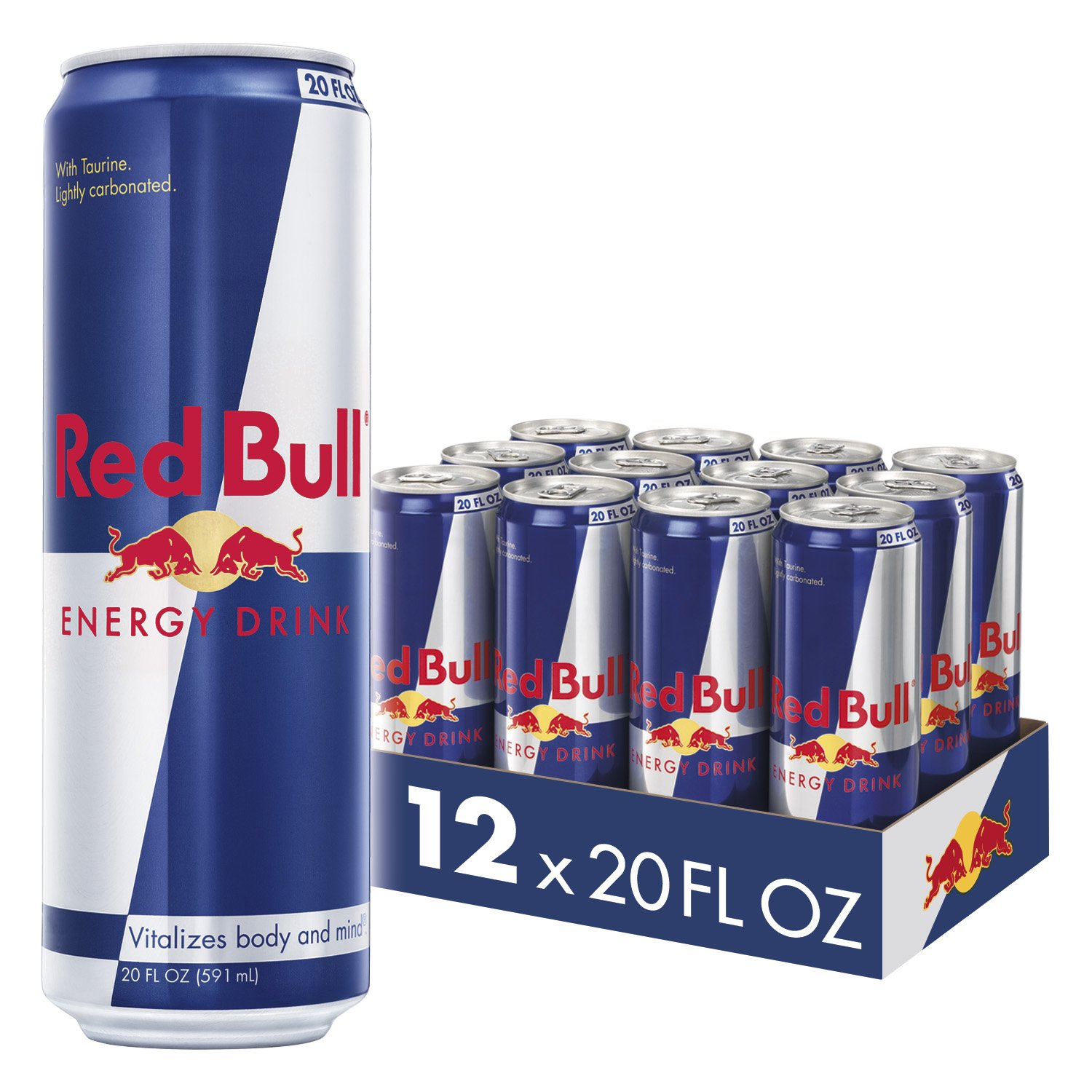 Red Bull Energy Drink 12 Pack of 20 Fl Oz