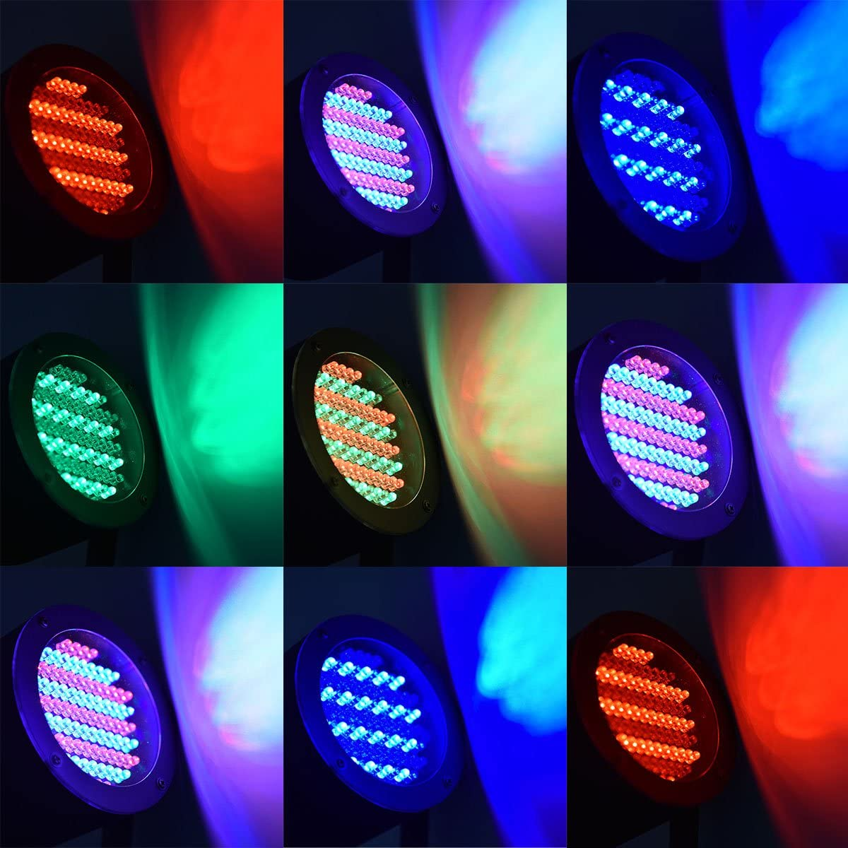 Sound-activated DMX Controlled LED Lighting for Wedding Event COSTWAY 2 pcs 86 x 25W RGB Stage Lights with Multiple Color Modes Party Celebration