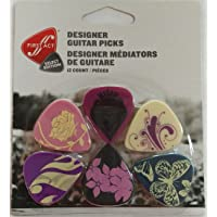 Guitar Picks 12 pack of 6 Assorted Unique Designs Size Medium. Best for Electric, Acoustic & Bass. Makes a Nice Gift! Perfect for kids and Adults.