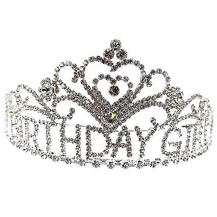 Amazon.com: Maru Tiaras de cumpleaños para niñas, diseño de ...