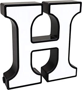 Qunlight LED Stand Up Letters, Night Lights, Light Up Aphabet Letter Box for Wall Casa Home Decor - A-Z (H)