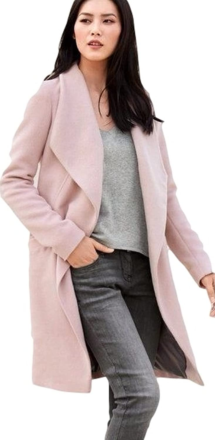 1a2be3198 Ex Next Pink Waterfall Longline Duster Coat Jacket Size 10 12 14 16 18 20