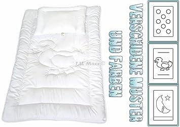 Kinder Bettdecken Set Bärchen Baby Steppbett 100x135+40x60 cm Kochfest 95°C