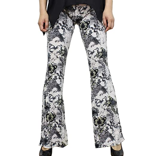 6d15f70975ca EchoMerx Printed Bell Bottoms Leggings Ice Polyester With Spandex -  Abstract Butterfly