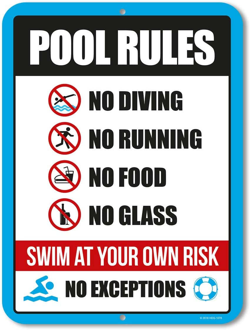 Pool Sign Pool Rules Sign