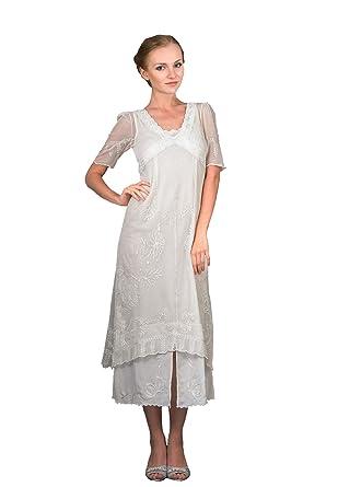 Nataya 40007 Womens Titanic Vintage Style Wedding Dress in Ivory (Small)