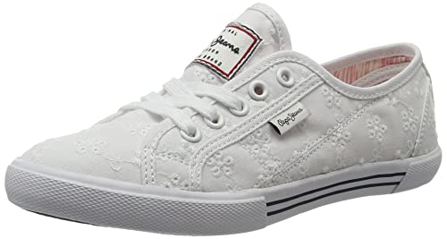 Pepe Jeans Damen Aberlady Anglaise 17 Sneakers