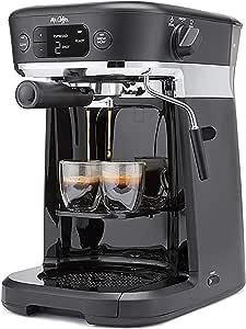 Mr. Coffee BVMC-O-CT Occasions Coffee Maker  Thermal Carafe, Single Serve, Espresso & More   with Storage Tray, Black/Chrome