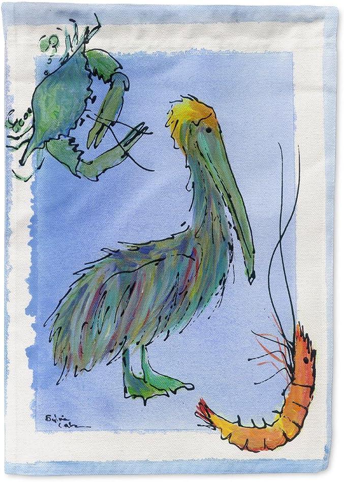 Caroline's Treasures 8038GF Bird - Pelican Flag Garden Size, Small, Multicolor