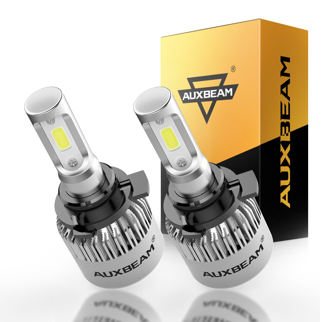 Auxbeam LED Headlight Bulb F-S2 Series LED Headlights with 2 Pcs of H13 9008 H13A P264T PJ264T LED Headlight Bulbs Hi-Lo Beam Bridgelux COB72W 8000lm - 1 Year Warranty