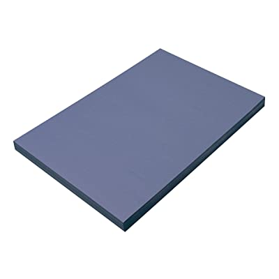 """SunWorks Construction Paper, Blue, 12"""" x 18"""", 100 Sheets : Office Products"""