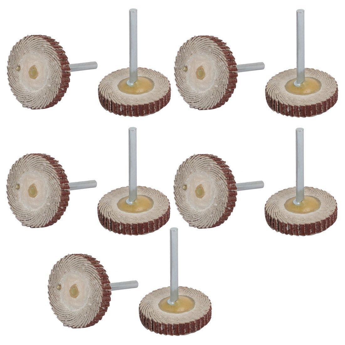 Portal Cool 120 Grit 25mm Dia T Type Flap Sanding Wheel Grinding Polishing Tool 10pcs