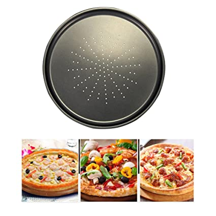 Jipai(TM)) Bandeja para Hornear Pizza Molde para Hornear Pizza Antiadherente 32 CM