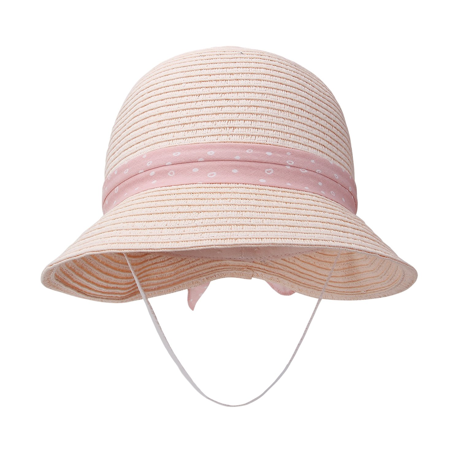 Baby Girl Straw Hats Toddler Girl Summer Hats Baby Sun Hats 0-6years Old (52cm(20.1in Head Circumference), Pink)
