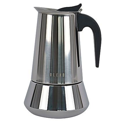 Ideal casa Cafetera 9 Tazas Acero Inoxidable con Fondo inducción. Blend