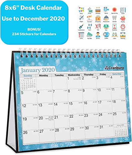 Calendario mensual de escritorio 2019 pequeño: mesa de escritorio ...