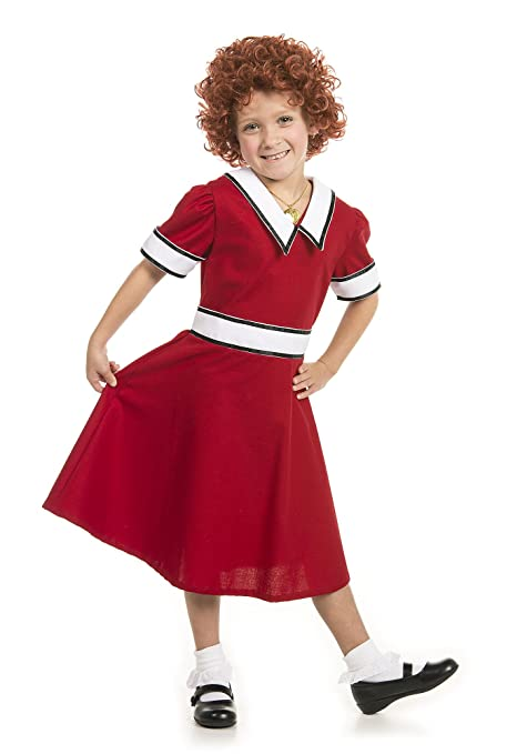 60s 70s Kids Costumes & Clothing Girls & Boys Little Orphan Annie Costume with Wig Youth / Child $25.00 AT vintagedancer.com