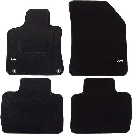J/&J AUTOMOTIVE Tapis de Sol Noir Velours Compatible avec Jaguar X Type 2005-2008 4 pcs